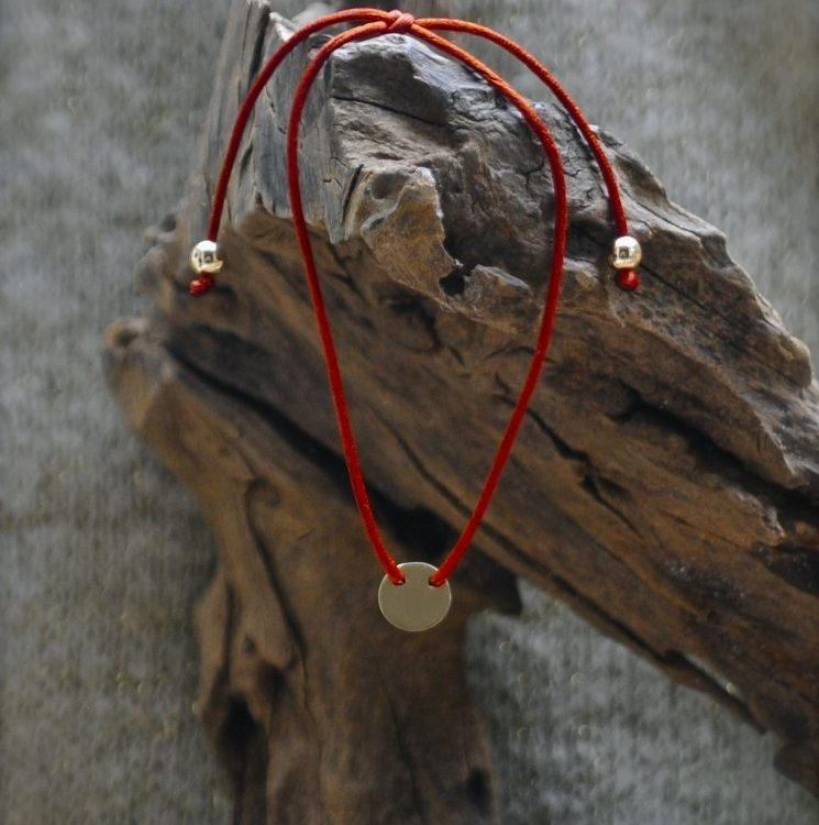 Gouden Koordarmband Roodbruin