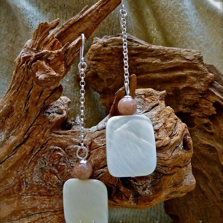 Zilveren oorbellen met Zonnesteen