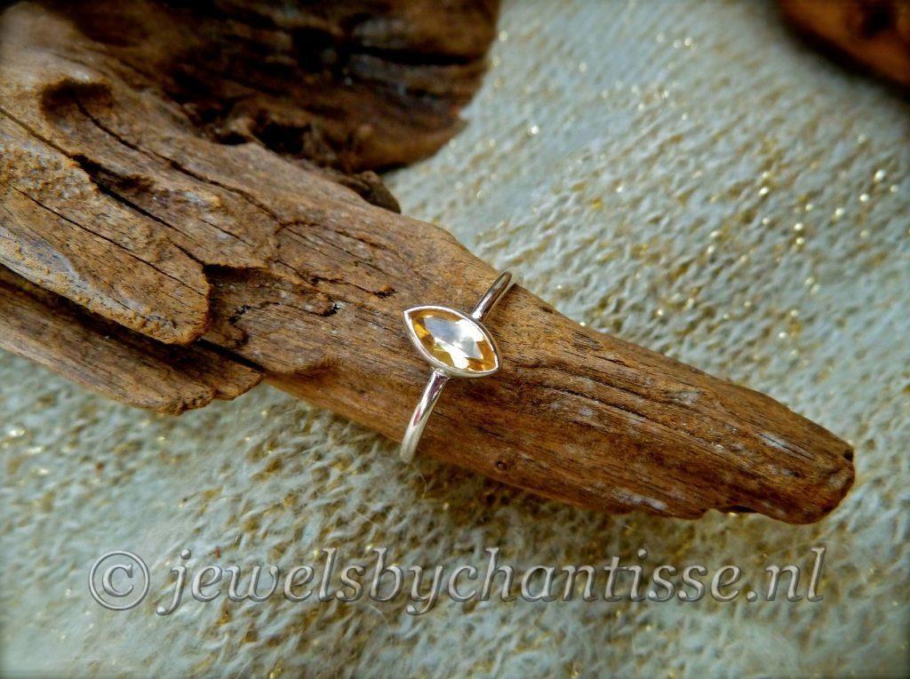 Zilveren Ring met Citrien