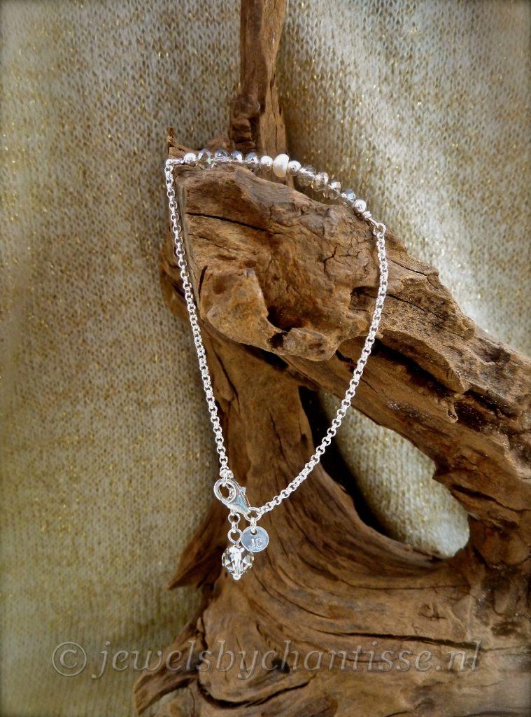 Zilveren Armband met Kristal