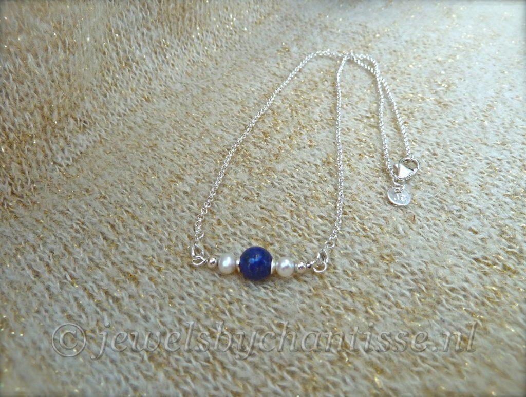 Zilveren Verwisselbare Ketting met Lapis Lazuli