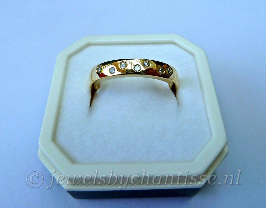 Gouden Ring met Briljanten
