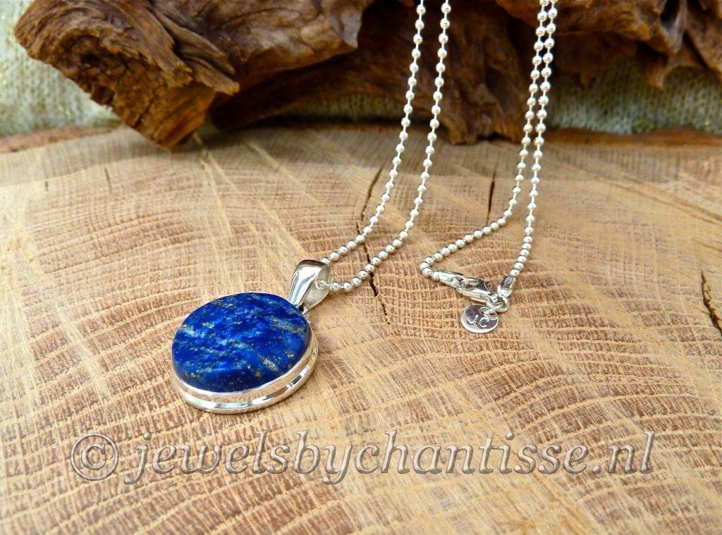 Bolletjesketting met Lapis Lazuli