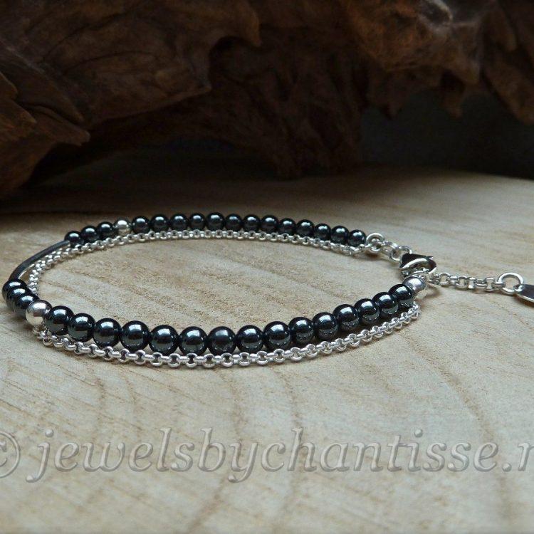 Zilveren Armband met Hematiet